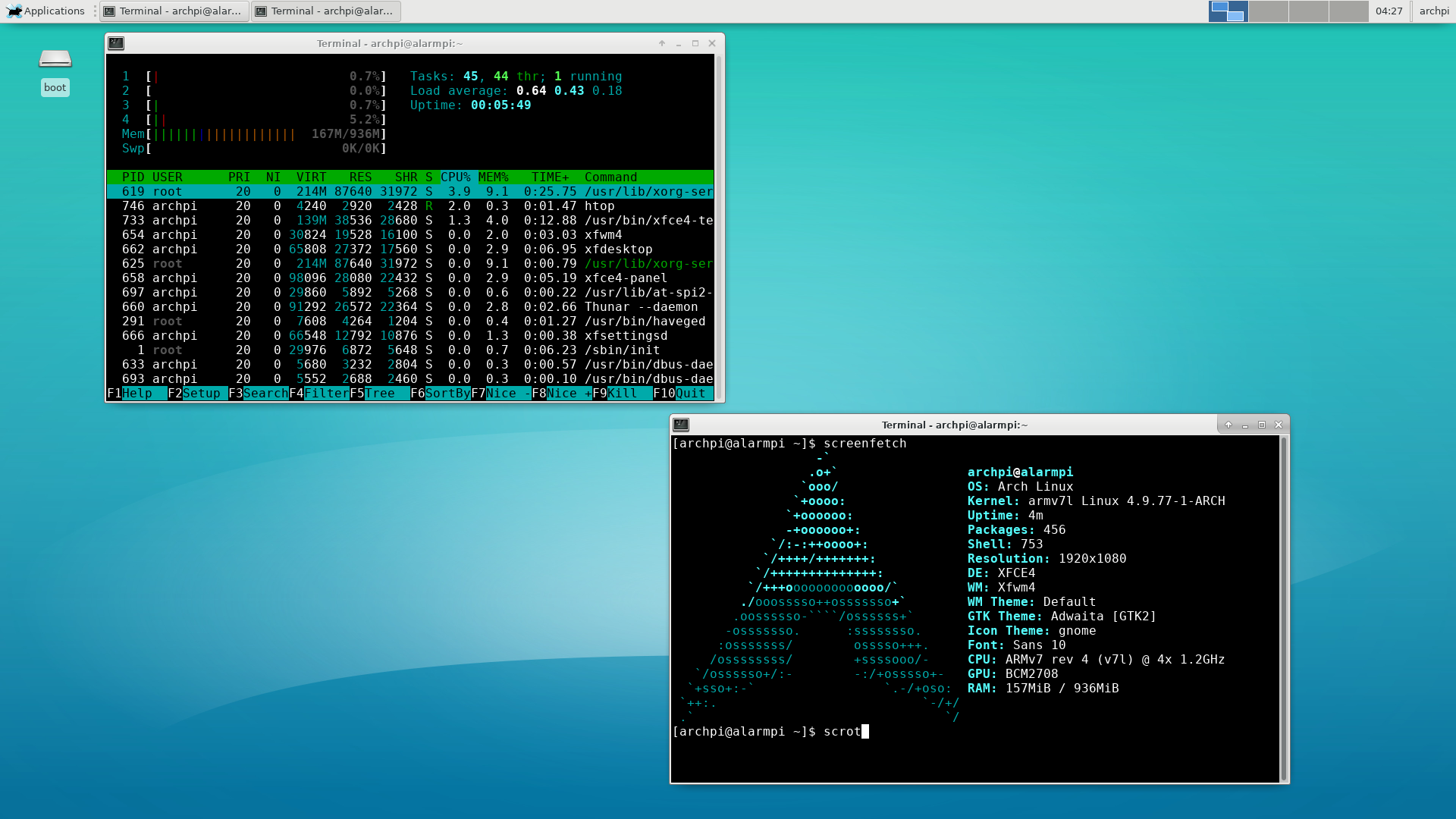 Arch Linux on a Raspberry Pi 3