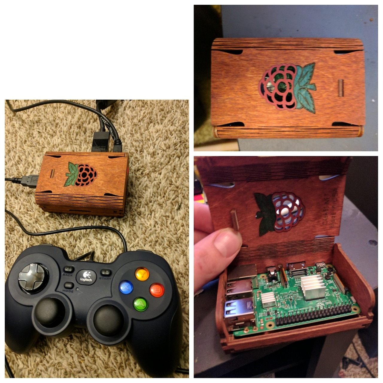 Game console on Raspberry Pi